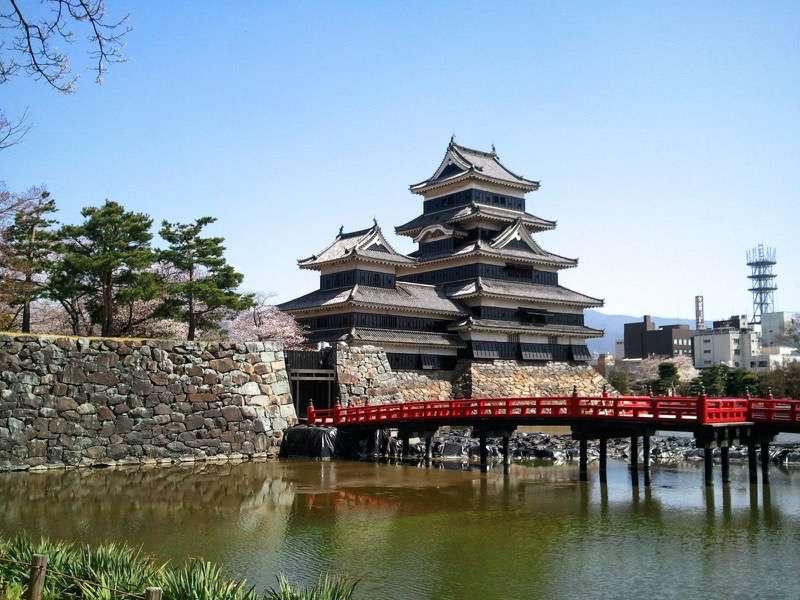 松本城 天守閣と埋橋
