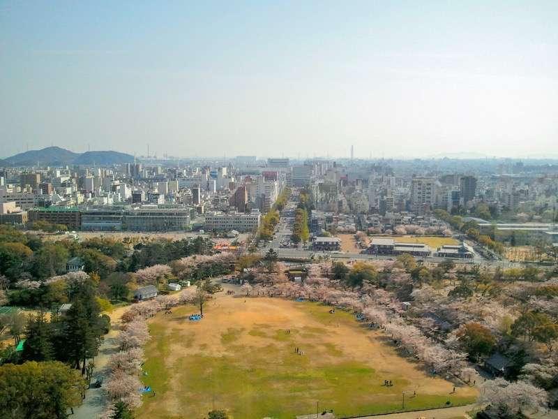 姫路城 天守からの眺め1