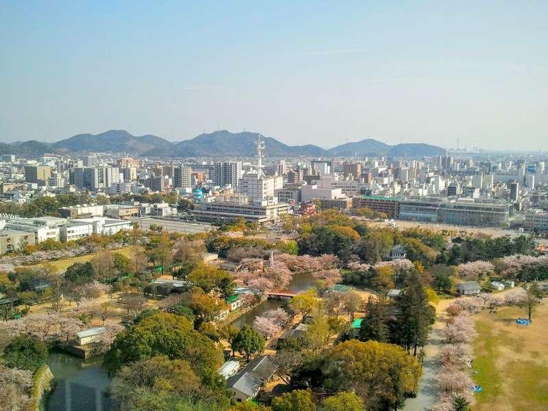 姫路城 天守からの眺め2