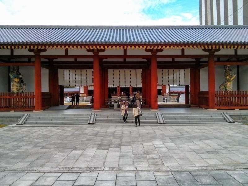 薬師寺 中門 回廊