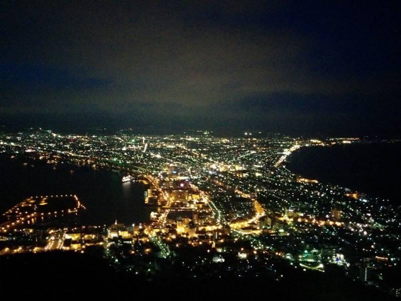 函館山 少し明るさが残る夜景1