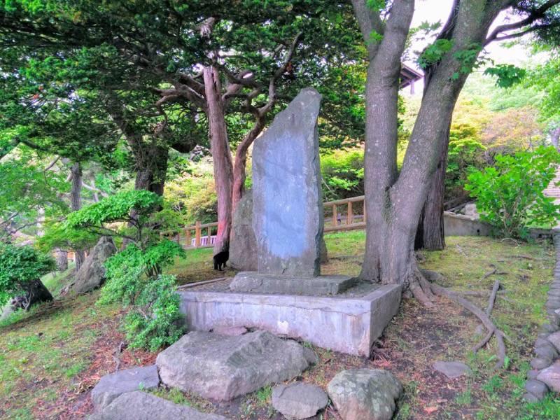 函館公園 石川啄木の歌碑1