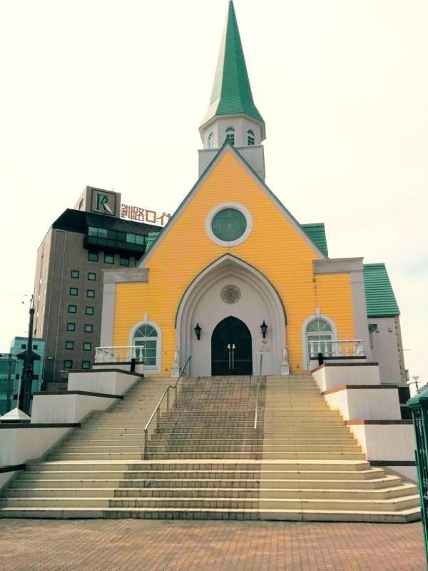釧路 駅前の教会
