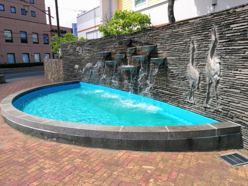 釧路 駅前の噴水