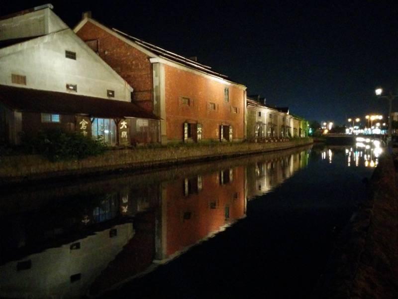 小樽 夜の小樽運河5