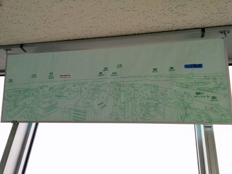 釧路市生涯学習センター 展望台 西側案内板