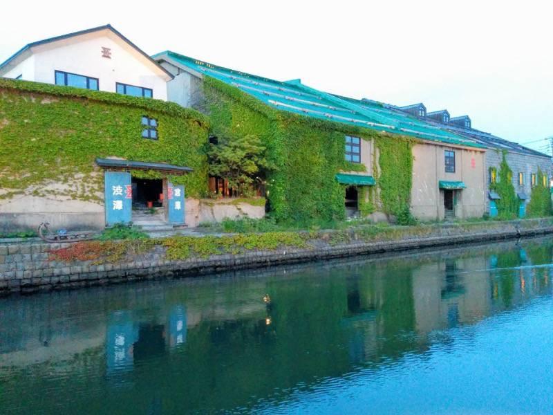 小樽 夕暮れの小樽運河6