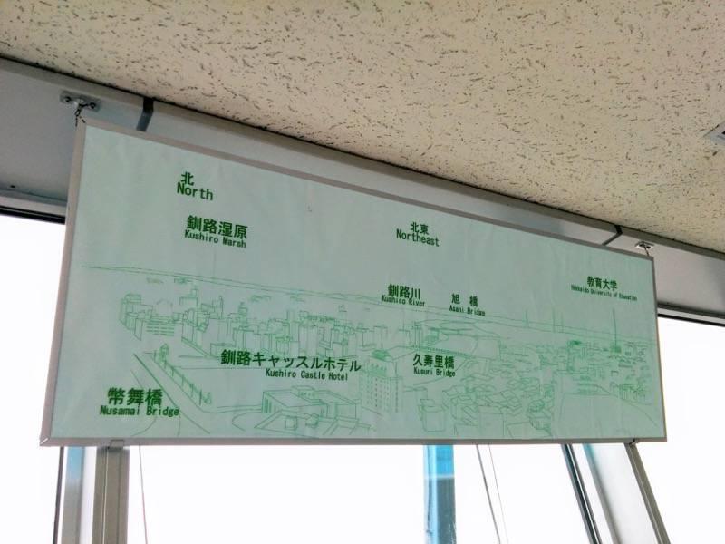 釧路市生涯学習センター 展望台 北東案内板