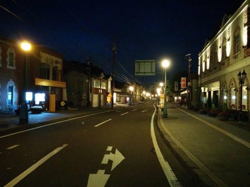 小樽 夜の堺町商店街