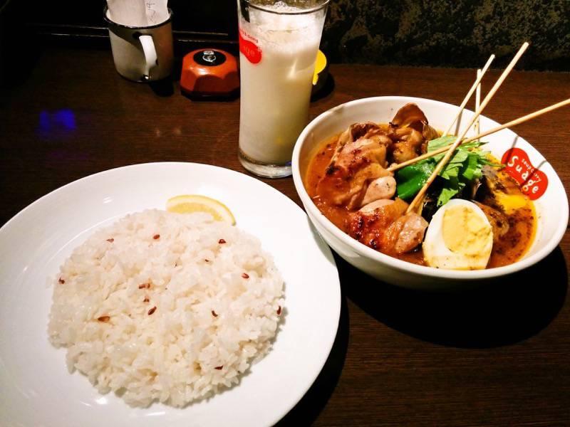 スープカレー suage+ パリパリ知床鶏と野菜カレー