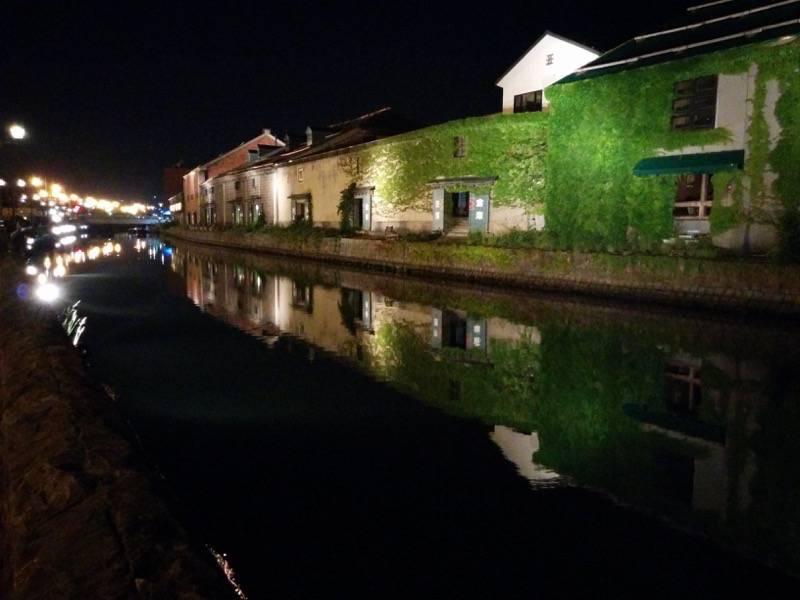 小樽 夜の小樽運河1