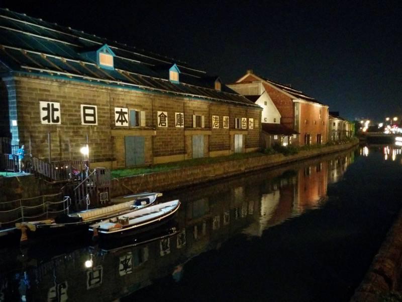 小樽 夜の小樽運河4