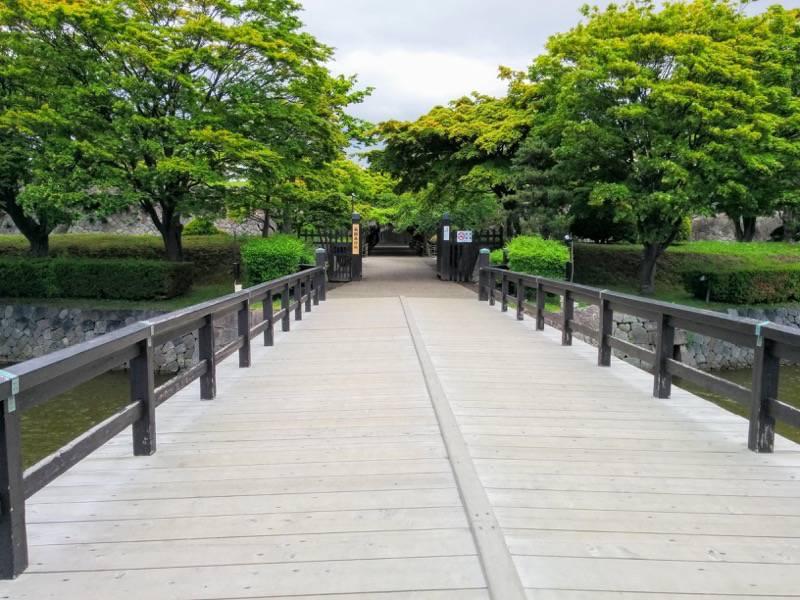 五稜郭公園 五稜郭への橋