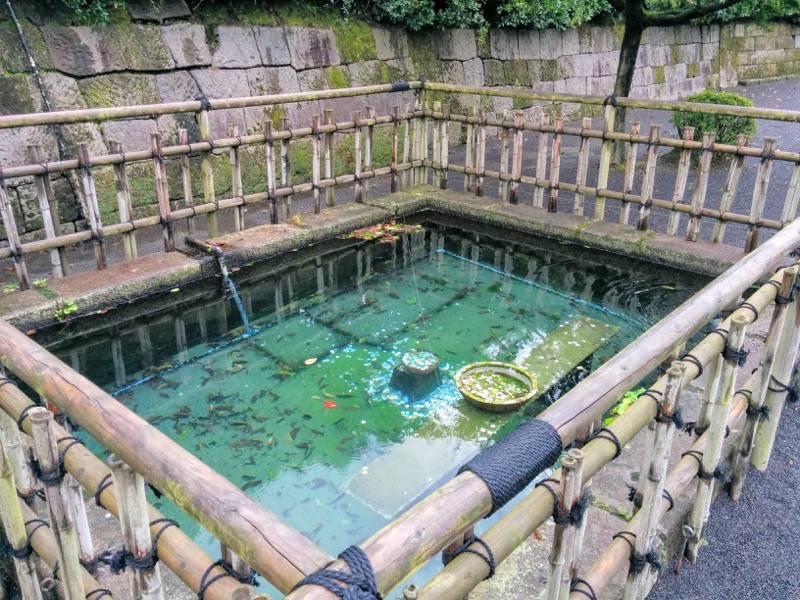 仙巌園 島津家水天渕発電所記念碑そばの水