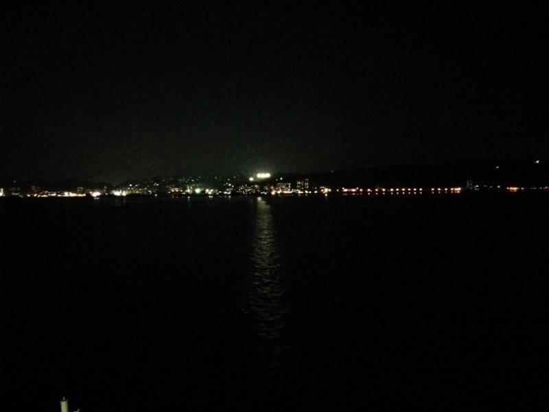 桜島フェリー 夜の風景3