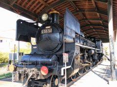 吉松駅−C55形蒸気機関車52号機