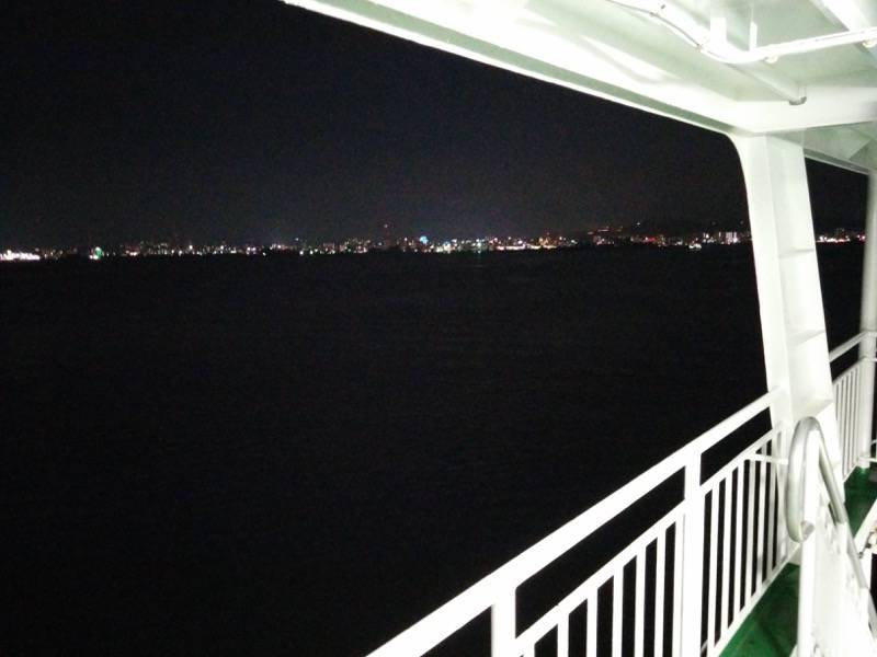 桜島フェリー 夜の風景2