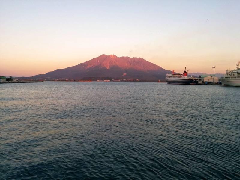 夕暮れの桜島2