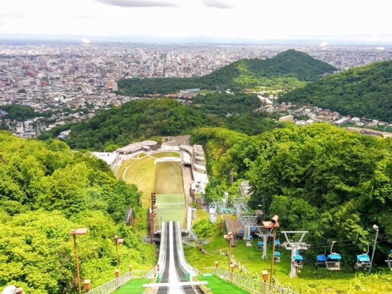大倉山ジャンプ競技場 ジャンプ台からの眺め1