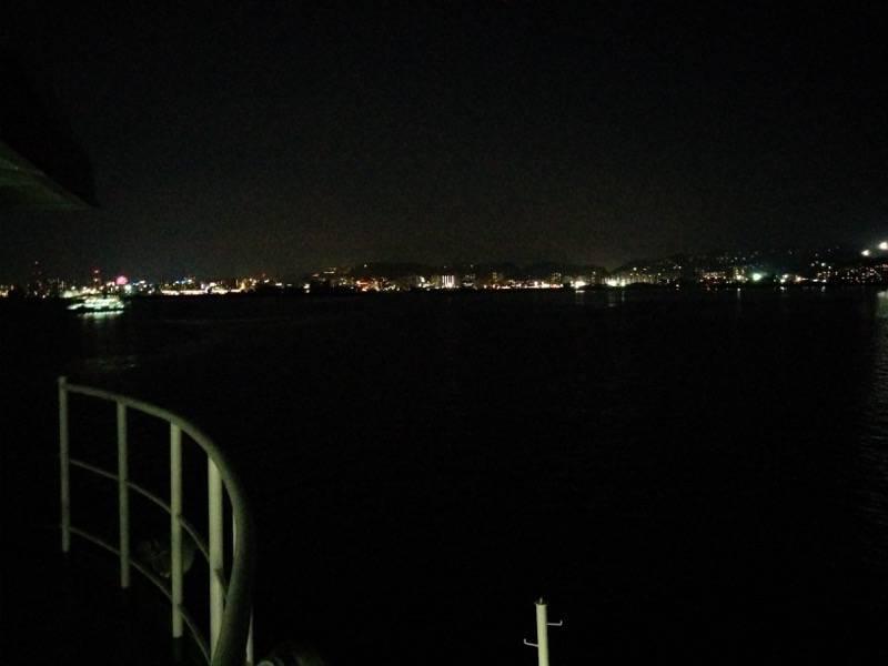 桜島フェリー 夜の風景4