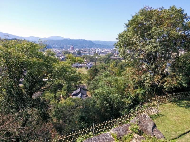 人吉城跡 三の丸跡よりの眺め1