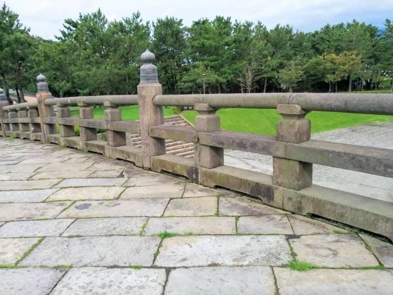 石橋記念公園 西田橋高欄