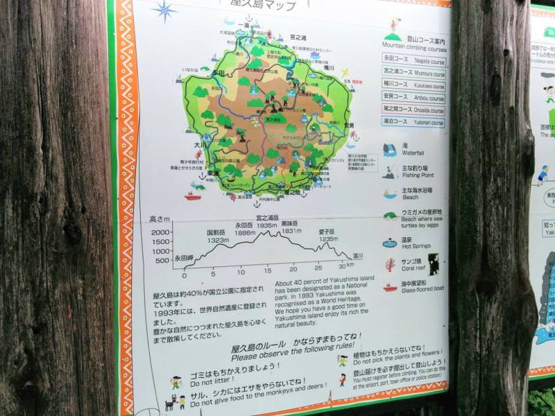 屋久島空港 屋久島マップ