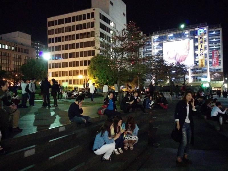熊本地震直後の繁華街4
