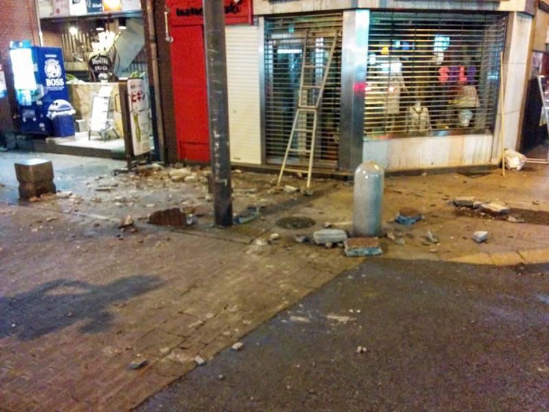熊本地震直後の繁華街1