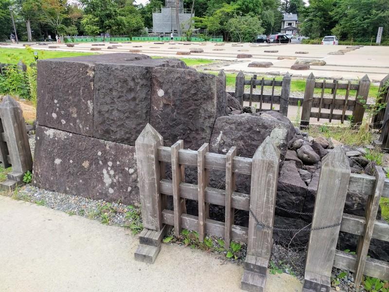 07本丸北壁の石垣モデル