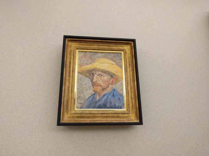 33ゴッホ麦わら帽子の自画像