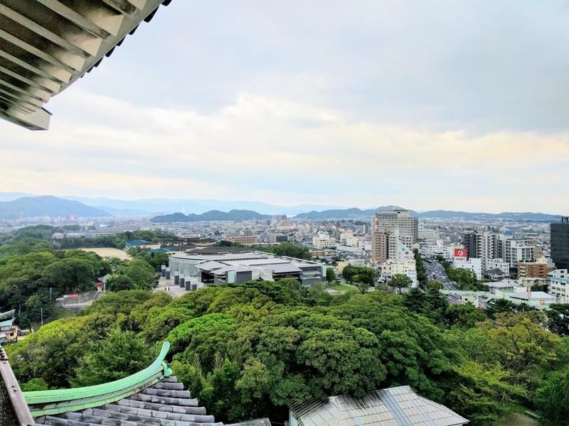 55天守三階からの眺め