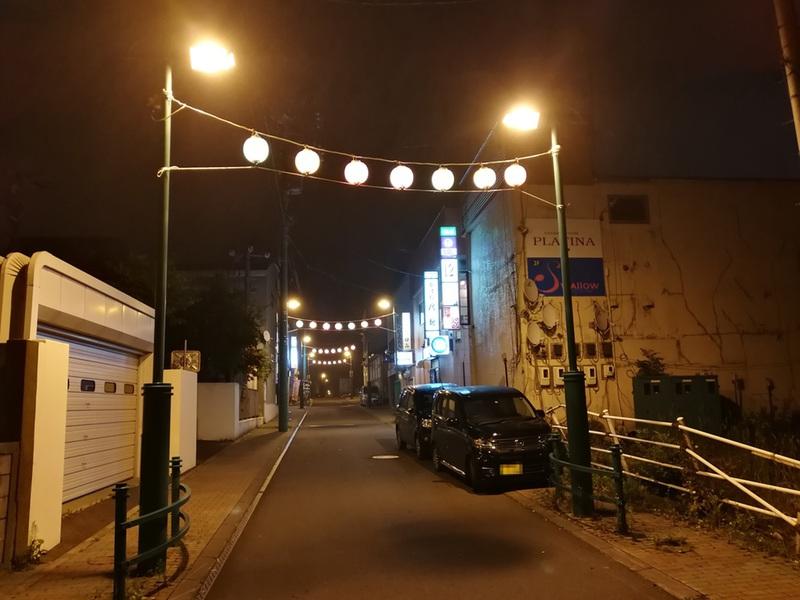 11夜の繁華街