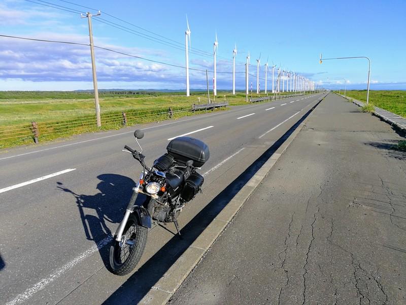 13バイクと風力発電